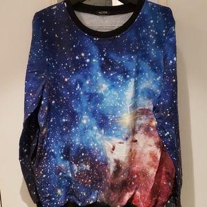 Acevog galaxy sweatshirt L